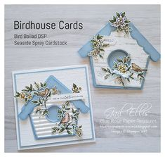 Blue Rose Paper Treasures: Search results for Bird ballad Fancy Fold Cards, Folded Cards, Ideas Sorpresa, Tarjetas Stampin Up, Shaped Cards, Square Card, Stamping Up Cards, Bird Cards, Animal Cards