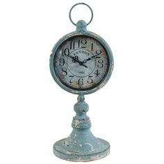 Blue Clock on Stand (33.02cm).