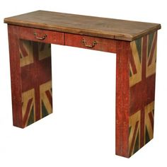 Vintage Union Jack Console Table