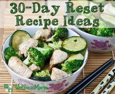 30 Day Reset Recipe Ideas - Autoimmune Diet