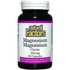 Natural Factors Magnesium Citrate - Constipation - Health Conditions | Body Energy Club Supplements