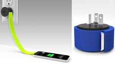 This Ribbon Wall Charger Will Never Get Tangled In Your Bag