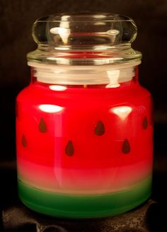 Watermelon, Apothecary Jar, Scented Candle. $10.95, via Etsy.