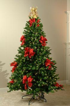 lozos rojos para decorar el árbol de navidad