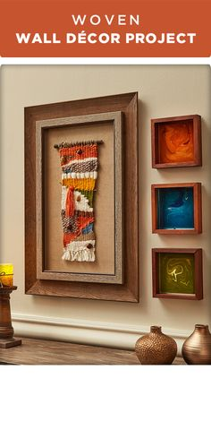 Add some fall to your wall with this woven wall décor project..