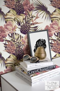 Tropical Removable Wallpaper / Self Adhesive by ThinkNoirWallpaper