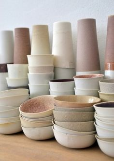 Kirstie Van Noort Ceramics   The colors of these are organic and sophisticated all in one!