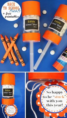 """Give your teachers these edible """"glue"""" sticks on your first day! For all of your back-to-school supplies check out Walgreens.com!"""