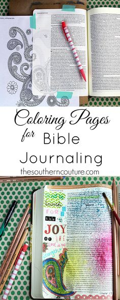 You don't have to be an artist to enjoy Bible journaling. Use coloring pages that are so popular right now and trace them onto your pages. Find out how to make this same entry with the help of @michaelsstores at thesoutherncouture.com. #relaxandcolor #coloringwithMichaels #Pmedia #ad Bible Journaling For Beginners, Art Journaling, Bible Study Journal, Scripture Study, Scripture Journal, Bible Art, How To Be Chill, Coloring Bible, Coloring Pages