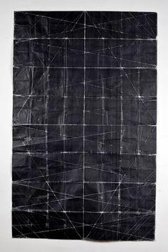 fold & unfold - Niall McClelland Tapestry - Beaten toner on paper, folded Geometric Patterns, Textures Patterns, Geometric Art, Design Oriental, Art Plastique, Paper Art, Art Photography, Abstract Art, Abstract Paintings