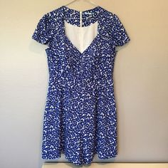 b028d92beb1 Anthropologie Leifnotes blue floral romper Size 12  fashion  clothing   shoes  accessories
