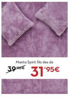 Manta Spirit lila a www.lamallorquina.es