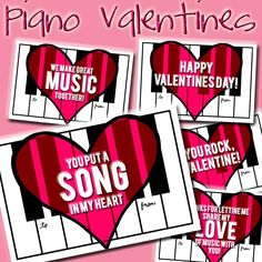I have a new freebie available for you in the Shop today! I'm already a little tired of winter, but with Valentines Day coming up next month it makes the cold a little more bearable :) I love… Piano Gifts, Music Gifts, Piano Lessons, Music Lessons, Valentine Crafts, Valentines Day, Valentine Stuff, Music Quotes Life, Stress Relief Music