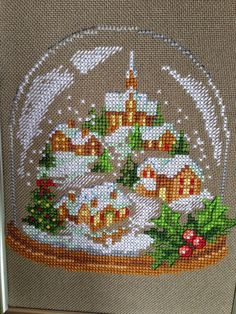 Cross Stitch Christmas Ornaments, Xmas Cross Stitch, Cross Stitch Heart, Beaded Cross Stitch, Christmas Embroidery, Cross Stitch Flowers, Cross Stitch Kits, Xmas Ornaments, Christmas Cross