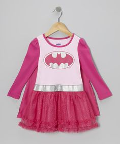 isn't this the cutest? Pink Batgirl Caped Dress - Toddler by Disney on #zulily today!