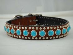 Dog Agility Image 1 - Description Gorgeous doesn't begin to describe this luxurious Woofwear Suede Dog Collar! Belt style metal capped end, turquoise rounds and chrome stud borders make this unique dog collar a customer favorite at Mary's Tack Dog Training Methods, Basic Dog Training, Dog Training Techniques, Training Dogs, Unique Dog Collars, Leather Dog Collars, Pet Collars, Puppy Obedience Training, Positive Dog Training