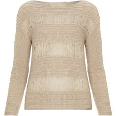 Michael Michael Kors Long sleeved loose knit top ($225) ❤ liked on Polyvore