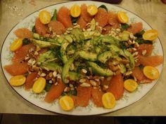 Avocado and Grapefruit Salad. Colorful, healthy, delicious!