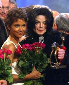 MJ and actress Halle Berry during the Bambi Awards at the Estrel Convention Center Berlin November 21 2002