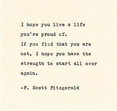 Inspirational Quote THE F. SCOTT FITZGERALD - Quote Made On Cardstock with Vintage Typewriter quotes quotes deep quotes funny quotes inspirational quotes positive Book Quotes Love, Quotes Dream, Now Quotes, Typed Quotes, Life Quotes Love, Change Quotes, Words Quotes, Wise Words, Quotes To Live By