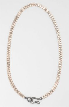 Guinevere Snake Closure Chain Collar Necklace available at Nordstrom