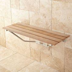 teak folding shower bench - Google Search