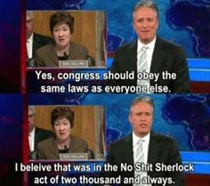 The No Shit Sherlock Act of two thousand and always