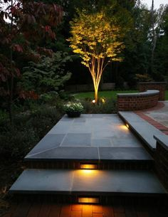 Outdoor Entrance Lighting Flames | Landscaping Services Bucks-Montgomery County: ELAOutdoorLiving.com-PA ...