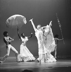 Alvin Ailey's Revelations, American Dance Theatre, black and white photograph by Anthony Crickmay, about 1960