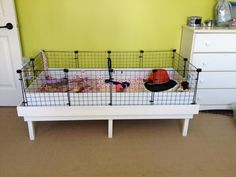 Table built to hold the open cage for some Guinea Pigs. I am going to try and add two drawers on wheels.