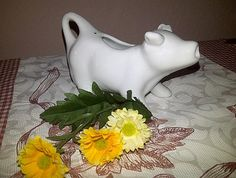 Vintage Simple White Cow Creamer by maggiecastillo on Etsy, $5.00