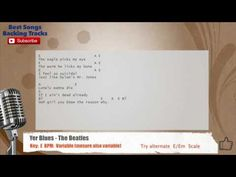 Yer Blues - The Beatles Vocal Backing Track with chords and lyrics