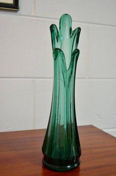 Pretty blue glass vase