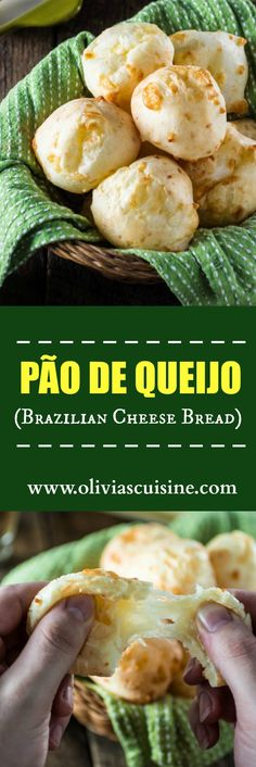 Authentic Brazilian Cheese Bread (Pão de Queijo) The most popular Brazilian snack is gluten free and loaded with gooey cheese. You'll be hooked! Bread Recipes, Cooking Recipes, Healthy Recipes, Casserole Recipes, Brazillian Food, Brazil Food, Brazil Brazil, Brazilian Cheese Bread, Good Food
