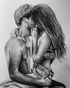 Best Couple Drawings Images For Loving Couple - Page 2 of 4 - Disqora Couple Drawing Images, Couple Drawings, Love Drawings, Art Drawings, Graphite Drawings, Photo Manga, Illusion Kunst, Couple Art, Love Images