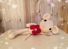 READY TO SHIP  Crochet mouse Amigurumi mouse by Unepelotedelaine