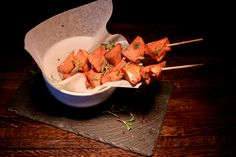 Teriyaki Chicken skewers!!! Our 2013 #summer menu is now available #delicious @ApresLondon
