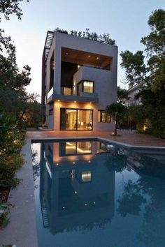 Residence in Filothei, Athens, Greece. - Really like this one, shows the versatility of vertical design.