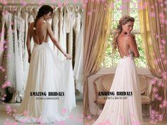 Niedrige rückseitige Hochzeitskleid, Rückenfreies Hochzeitskleid, Illusion schier zurück Hochzeitskleid, Strand Hochzeitskleid, Hochzeitskleid informellen Empfang auf Etsy, 216,14 €