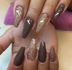37 Cute Nail Art Designs To Try In 2017 - Coffin nails are fun to experiment with. Take a look at these 69 impressive designs you will definitely want to play around with. Fabulous Nails, Gorgeous Nails, Love Nails, How To Do Nails, Pretty Nails, Fun Nails, Manicure Gel, Glitter Manicure, Gel Nail