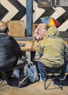by Eril Nisbett - x Oil on board finally finished this one too many fabric textures chess pieces shadows e. Susan George, Kurt Schwitters, Stan Laurel, Sandra Dee, Gordon Parks, Lucky Luke, Robert Mcginnis, Max Ernst, Jane Seymour