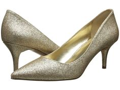 Nine West Margot High Heels Gold Synthetic : 8.5 M