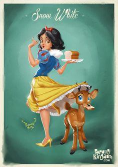 Snow White Pin Up Girl by pangketepang.deviantart.com on @deviantART