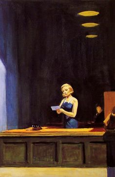 Edward Hopper - Painting - Realism - New York Office (detail) - 1962 American Realism, American Artists, Edward Hopper Paintings, Ashcan School, New York Office, Art Graphique, Oeuvre D'art, Painting & Drawing, Art History
