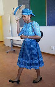 Royal Family Around the World: Prince Harry Visits Africa - Day 1 on November 2015 in Maseru, Lesotho. African Wear, African Attire, African Dress, African Fashion, Seshoeshoe Dresses, Ladies Day Dresses, African Print Dress Designs, African Design, Pedi Traditional Attire