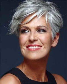 Short grey hair styles for older women
