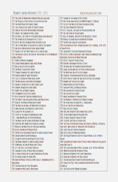 List of caldecott award winning books