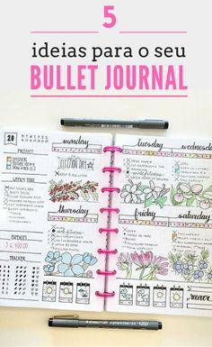 Tem tantas coisas para fazer, planear e organizar que não sabe por onde começar? Encontre aqui 5 ideias para organizar o seu Bullet Journal e organize toda a sua vida! Vida de Mãe | Organizar | Rotinas |