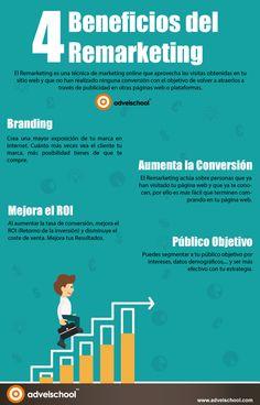 4 beneficios del remarketing #infografia #infographic #marketing