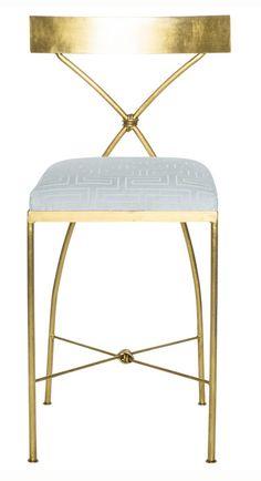 Channeling Grace Kelly - A Rising Interior Design Star - laurel home Counter Stools, Bar Stools, Interior Exterior, Interior Design, French Style Decor, Modern Furniture, Furniture Design, Greek Decor, Sofas